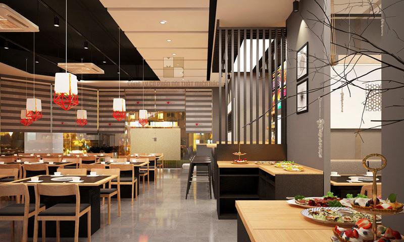 Báo giá thiết kế không gian nhà hàng ăn uống giá rẻ năm 2020